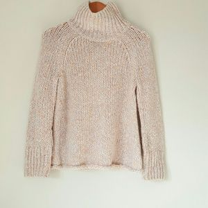 Lou & Grey chunky knit pink and blue sweater